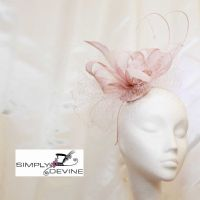 Pearl pink net fascinator 13967 SD36 SD37 and SD38